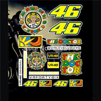 Wholesale Gps Sticker - Wholesale-free ship! 2pcs lot stricker for motorcycle MOTO GP VR 46 valentino rossi stickers the waterproof decalscar stricker