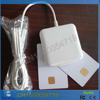 Wholesale Programming Ic - Wholesale-PC SC Contact IC Chip Smart Card Reader Writer kartenleser ACR38U_IPC USB Support CT-API Programming Interface Free Shipping
