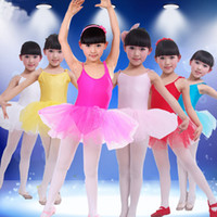 Wholesale Girls Gymnastics Clothing - Wholesale-Girls Ballet Dress For Children Girl Dance Clothing Kids Ballet Dresses For Girls Dance Leotard Girl Dancewear Kids Gymnastics