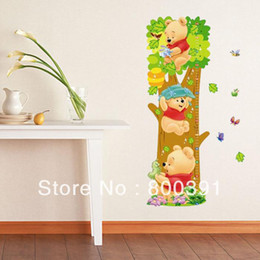 Wholesale Grow Measure - Wholesale-wholesale 5pcs Kids wall stickers Bear Kids Growth Height stickers, Growth up Measure,grow up with me,