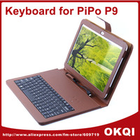 Wholesale Case Tablet Pc M9 - Wholesale-Original Standard 10.1 inch Keyboard Leather Case for PiPo M9 Pro  PiPo P9 3G Tablet PC