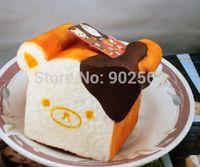 Wholesale rare soft toys for sale - new RARE super jumbo anime aoyama tokyo japan rilakkuma toast squishy charm pendant PU cm very soft with tag toy strap