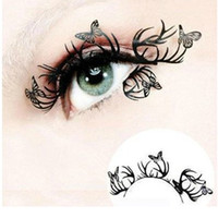 Wholesale Butterfly Design Paper - Wholesale-High Quality Hand Cut Paper False Eyelashes Fake Eye Lashes Antlers Butterfly Classic Design free shipping 205