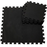 Wholesale Eva Play Mats - Wholesale-9pcs  lot baby black EVA Foam Interlocking Exercise Gym Floor play mats Protective Tile Flooring Free combination carpets30*30cm