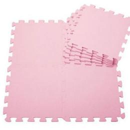 Wholesale Kids Interlocking Floor Mats Wholesale - Wholesale-9pcs lot Baby EVA foam puzzle play mats of kids pink Interlocking Floor mat for children 30*30*1cm