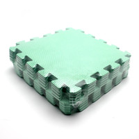 Wholesale Mat For Puzzle - Wholesale-10pcs Green Soft Foam Play Game Mat Puzzle Floor Mats Baby Carpet Pad for Kids30*30CM