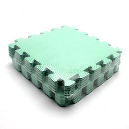 Wholesale Puzzle Pads Babies - Wholesale-10pcs Green Soft Foam Play Game Mat Puzzle Floor Mats Baby Carpet Pad for Kids30*30CM