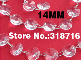 Wholesale Crystal Octagon 14mm - Wholesale-Free Shipping!!New Arrival 14MM 735pcs lot Clear Octagon Acrylic Beads Wholesale DIY Material for Crystal Garland Strand