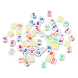 Wholesale Acryl Spacer Perlen Cube in zufälliger Anzahl Muster ca mm x mm Loch ca mm Stück neu