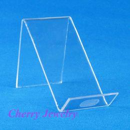 Plastik Cep Telefonu Ekran Standı telefon tutucu smartphone Raf Tutucu plastik ekran Temizle sayaç Görünümü