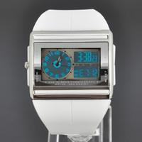 аналоговые часы даты дня оптовых-Wholesale-New OHSEN White Analog Digital Quartz Day Date Womens Wrist Rubber Band Sport Watch W016W
