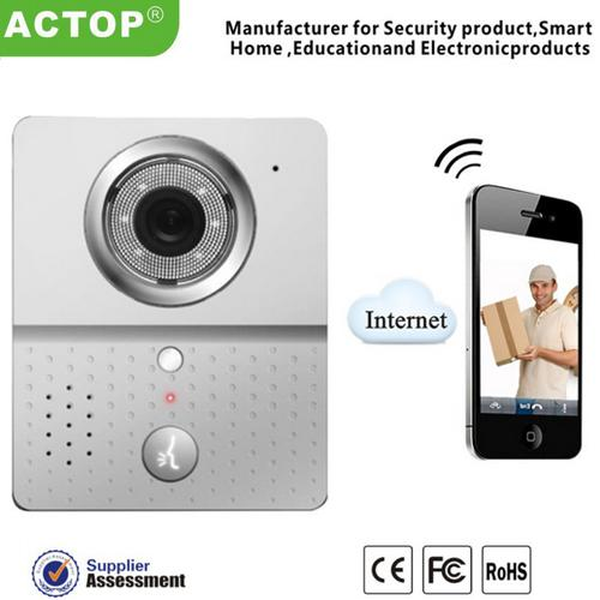 Toptan-2015 Sıcak Wifi Kapı Zili Kamera Kablosuz Video Interkom mobil akıllı telefon kontrolü IP Kapı telefonu