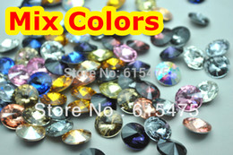 Wholesale 12mm Rivoli Crystal Wholesale - Wholesale-Free shipping! Mix colors Crystal Rivoli beads,sizes option:8mm,10mm,10.7mm,12mm,14mm,16mm,18mm Rivoli Crystal