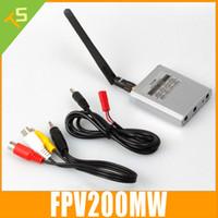 videokombinationen großhandel-Großhandels-Freies Verschiffen Mikro 5.8Ghz Video AV TX RX kombiniertes System FPV 200mW Reichweite 5.8 GHz Sender-Empfänger 5.8G