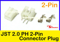 Wholesale antenna female connector - Wholesale-JST PH 2.0mm 2-Pin Female ,Male Connector Plug and Crimps x 50 Sets