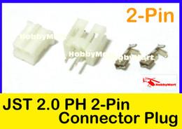 Wholesale Crimp Set - Wholesale-JST PH 2.0mm 2-Pin Female ,Male Connector Plug and Crimps x 50 Sets
