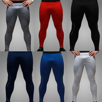 Wholesale skin tight clothes - Wholesale-Newest High Quality Mens Cycling Pants Compression Tights Base Layer Skins Running Fitness Excercise Clothes Pants