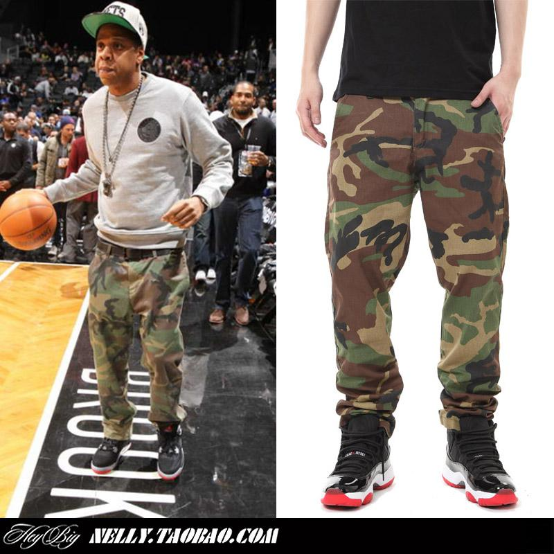 Wholesale-Jay-z brand outdoor camo pants slim fit sweatpants for men women  army fatigue pants skinny sweats military trousers camouflage
