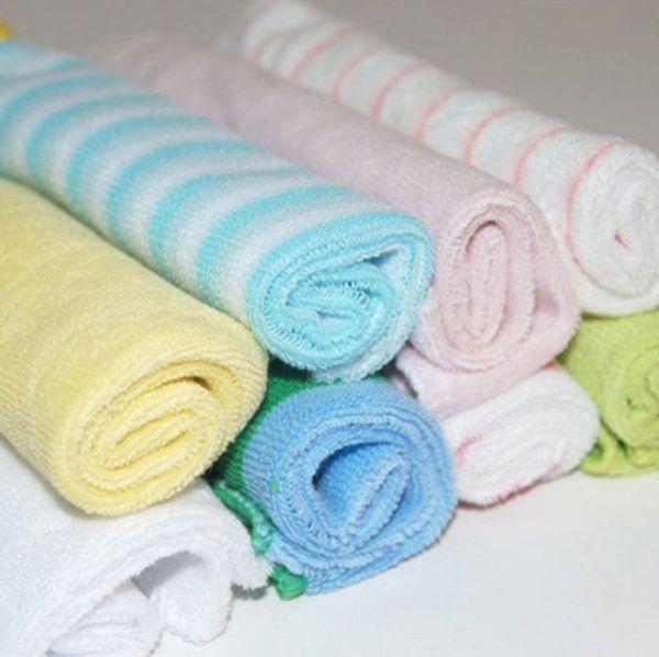 Atacado-8 x NOVO Baby Face Washers Mão Toalha De Algodão Limpe Presente De Pano De Lavagem BULK VENDA