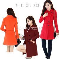 Wholesale Ladies Coats Leisure - Wholesale-2015 Winter Autumn Women coats Long style Ladies Jackets Leisure Outerwear for Women Fleece High quality Overcoat