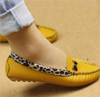 Wholesale Leopard Blue Black Sandal - Wholesale-High quality New Women's Fashion Sandals Leopard Flat heel Shoes causal shoes boat shoes
