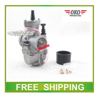 Wholesale Gy6 Scooter Carburetor - Wholesale-Carburetor 34mm OKO PWK performance racing flat side GY6 scooter buggy go cart ATV 150CC 200CC 250CC 300cc quad free shipping