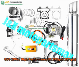Wholesale High Performance Exhaust - Wholesale-free shipping GY6 125CC 150CC 157qmj 152qmi engine high performance parts racing cdi cylinder racing coil exhaust scooter parts