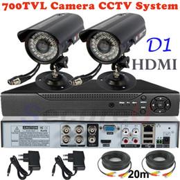 Dvr Cctv NZ - Wholesale-Sale 2ch cctv kit security surveillance alarm system 700TVL thermal video hd camera 4ch D1 DVR digital video recorder HDMI 1080P