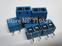 Wholesale Terminal Block Pin Connector 5mm - Wholesale-Free Shipping 50PCS 2 Pin Screw Terminal Block Connector 5mm Pitch B