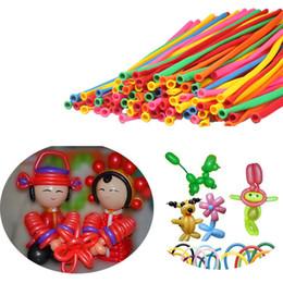 2019 colori a palloncino All'ingrosso-2015 il più nuovo 200pcs Balloons Different Colors Latex 260Q Modelling tradizionale T-est colori a palloncino economici