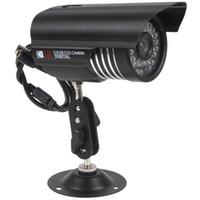 ir kamera entfernung großhandel-Großhandel-Wasserdichte bunte IR CCTV-Kamera 1200 TVL wasserdichte Kamera CMOS-Kamera mit Nachtsicht + 30m Sichtabstand