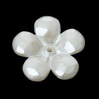 bouchons en caoutchouc acrylique achat en gros de-Acrylic Beads Caps Flower Blanc (pour les perles de 18,0 mm) 22,0 mm x 21,0 mm, 100 PCs 2015 nouveau