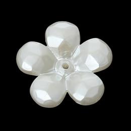 Acrylic Beads Caps Flower Blanc (pour les perles de 18,0 mm) 22,0 mm x 21,0 mm, 100 PCs 2015 nouveau ? partir de fabricateur
