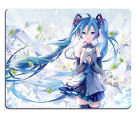 mat Gaming mousepad Atacado-Custom para Vocaloid Hatsune Miku Flor Anime Gaming Mouse Pad