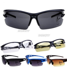 Wholesale Riding Cars - Wholesale-2015 Hot Style Fashion Cool Womens Mens Safety Car Sports Riding Sunglasses 6 Color