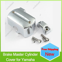 Wholesale V Star Chrome - Wholesale-chrome aluminum motorcycle handlebar Reservoir Brake master cylinder cover for Yamaha v-star 650 1998-2007 V-Star 1100 1999-2007