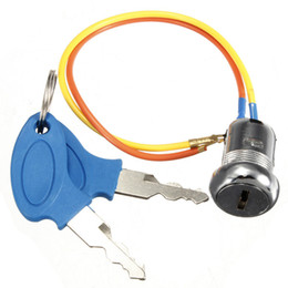 Wholesale-2 Wire Ignition Key Switch Lock Kart Scooter Electric ATV Dirt Scooter Bike Motor Free shipping