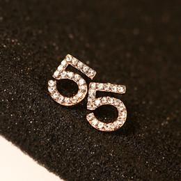 Wholesale Cuff Earrings Women - for women gold stud earrings vintage fashion jewelry earings digital 5 super flash ear cuff girl pendientes channel