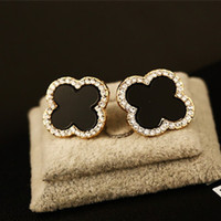 Wholesale Gold Corner - women fashion gold earrings Clover leaf 4 corner Star sterling jewelry earing hypoallergenic brincos girl cute pendientes