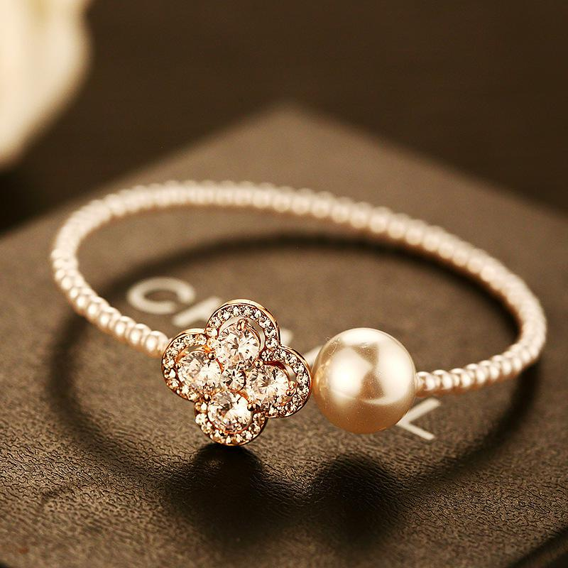 Gold Bangles for Women Big Pearl from India Fashion Indian Jewelry ...