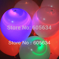 Atacado-50 pcs Surprising 12inch Led Light Latex Balloons Light Up LED Balloon Festa de Natal Festival Holiday Club Wedding Supplies