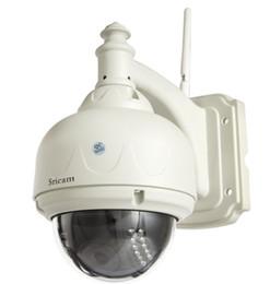 wanne neigung wifi im freienkamera Rabatt Wholesale-Sricam AP006 Günstige P2P Wireless Waterproof 4MM Objektiv IR CUT Pan Tilt Wifi IP-Kamera im Freien