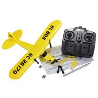 rtf uzaktan kumandalı uçaklar toptan satış-Toptan-Mini HuaLe HL803 PIPER J3 CUB NC26170 Uzaktan Kumanda RC Uçak RTF