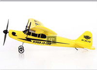 Wholesale epp airplane - Wholesale-Newest arrival Sea gull EPP 2.4G HL803 RTF air plane J3 CUB NC26170 RC Airplane glider Free shipping the best gift for children
