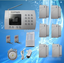 Wholesale Wireless Alarm Dialer - Wholesale-Wholesale - New Wireless home Security System Alarm Auto-Dialer Factory sales Fast shipping S217