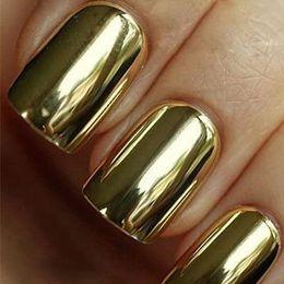 Wholesale Nail Art Armour Wraps - Wholesale-Fashion Beauty Nail Art Polish 16pcs gold and 16pcs Silver Metallic Foil Sticker Armour Patch Wraps Tips