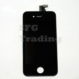 Wholesale Iphone 4s Retina Display - Wholesale-5 Lot Brand New A1 Quality For iPhone 4S Replacement Screen LCD Retina Display Touch Digitizer Damaged Front Touch Glass Screen