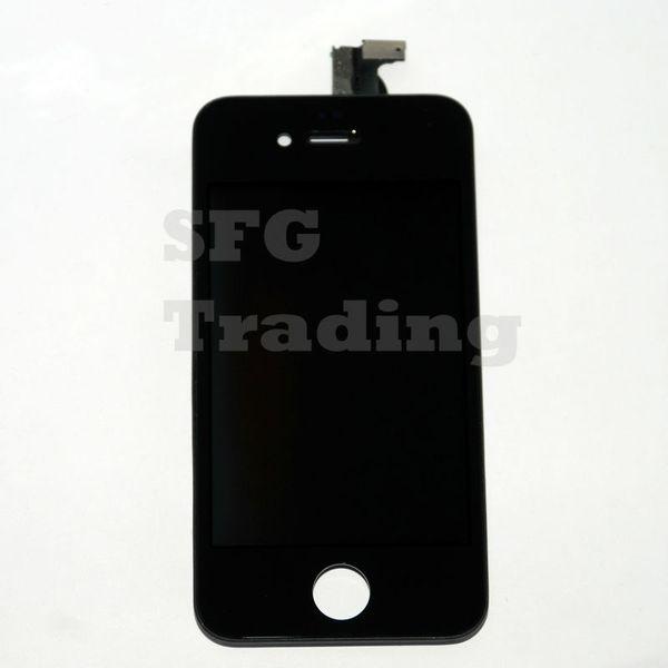 Toptan-5 / Lot Yepyeni A1 Kalite iPhone 4 S Için Yedek Ekran LCD Retina Ekran Dokunmatik Digitizer Hasarlı Ön Dokunmatik Cam Ekran