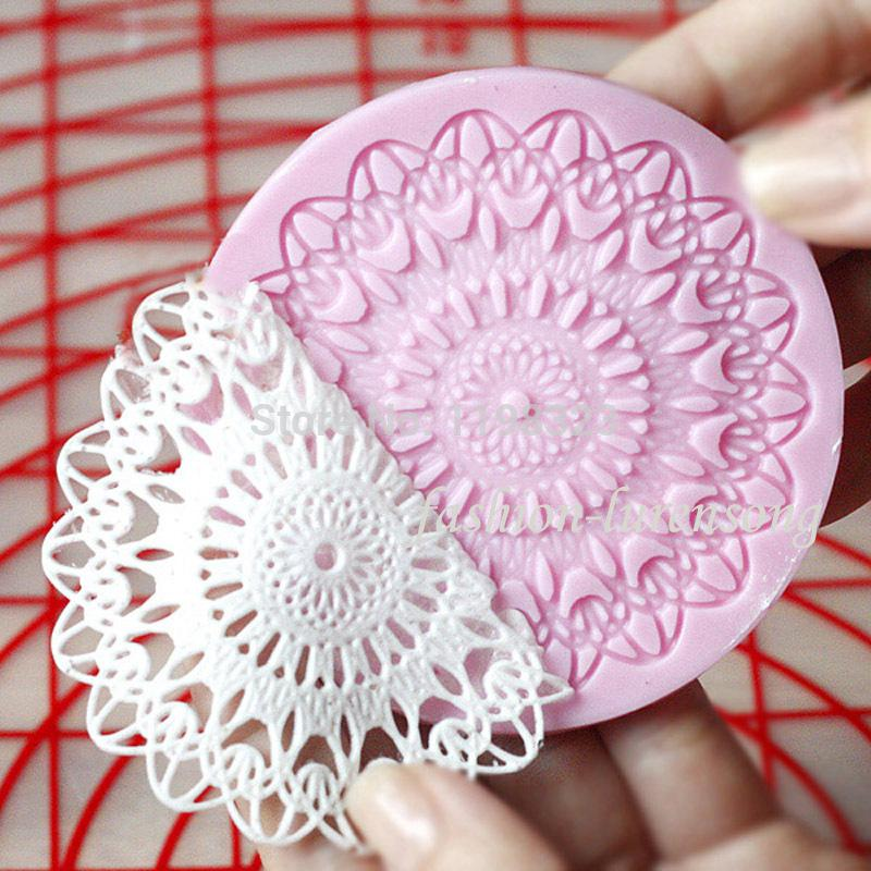 Best wholesale round cupcake silicone mold lace cake for Chocolate lace template