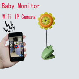 Video Security Camera Systems Canada - Wholesale-Video Wireless Baby Monitor Security Wifi IP Mini Camera DVR Night Vision Mic For IOS System & Andriod Smartphone Free
